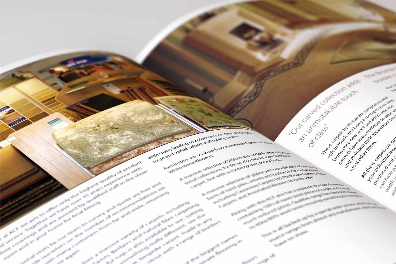 Brochure design, flooring company, Horsforth, Leeds