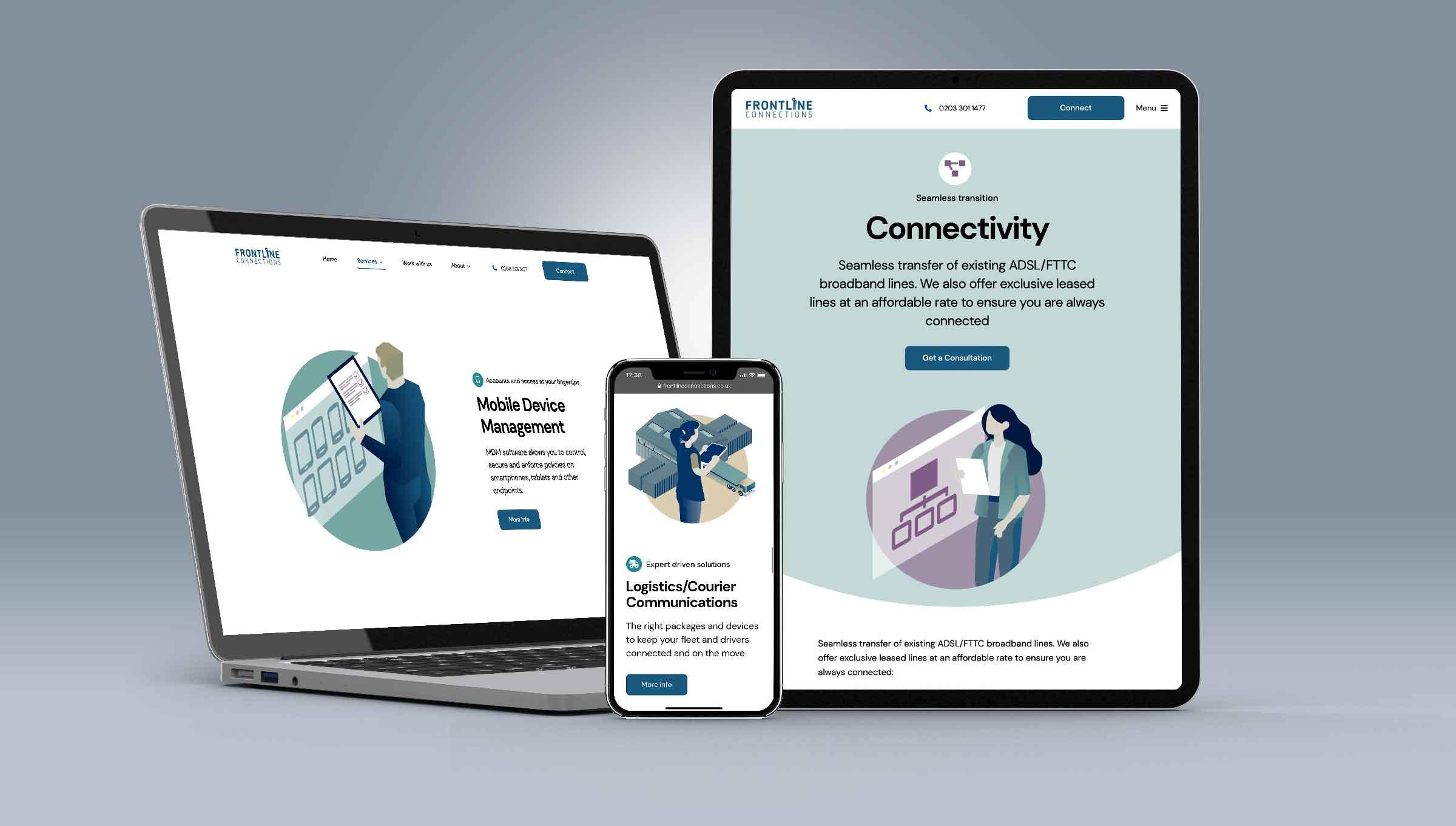 Frontline Connections Responsive Website Design